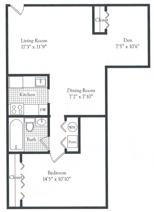 One bedroom with den parke crescent apartments for One bedroom apartment with den
